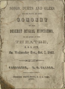 Songs, Duets, and Glees (1863)