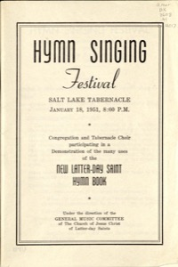 Hymn Singing Festival (Salt Lake Tabernacle) (1951)