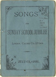 Songs for Sunday School Jubilee (1881)
