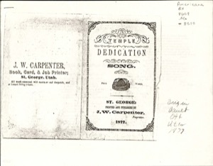 Temple Dedication Song (St. George) (1877)