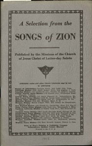 A Selection from the Songs of Zion