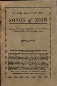 A Selection from the Songs of Zion (1936)