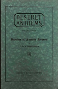 Deseret Anthems, Volume 3 (1927)